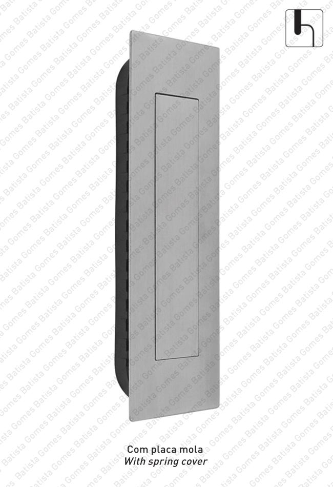 Batista Gomes - CE.IN.8910 - Concha embutir com tampa de mola 155x45 - INOX