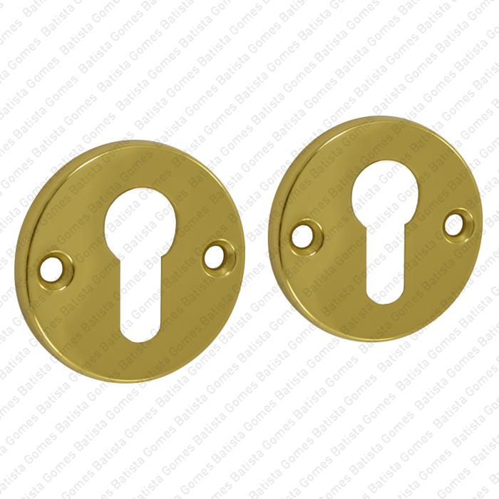 Batista Gomes - ENT.60.PZ - KIT - Jogo de entradas de chave para cilindro redondas Ø52x5mm