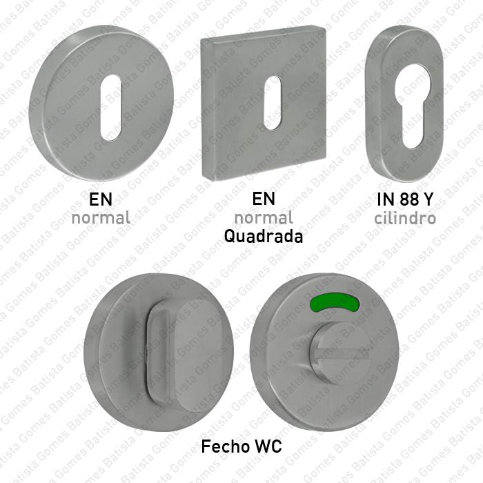 Batista Gomes - Entradas de Chave - Entradas de chave / Fechos WC para portas de edifícios