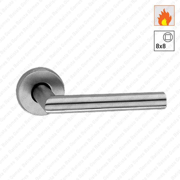 Batista Gomes - P.2112C.CF - Par puxadores rotativo/rotativo para portas corta-fogo - INOX