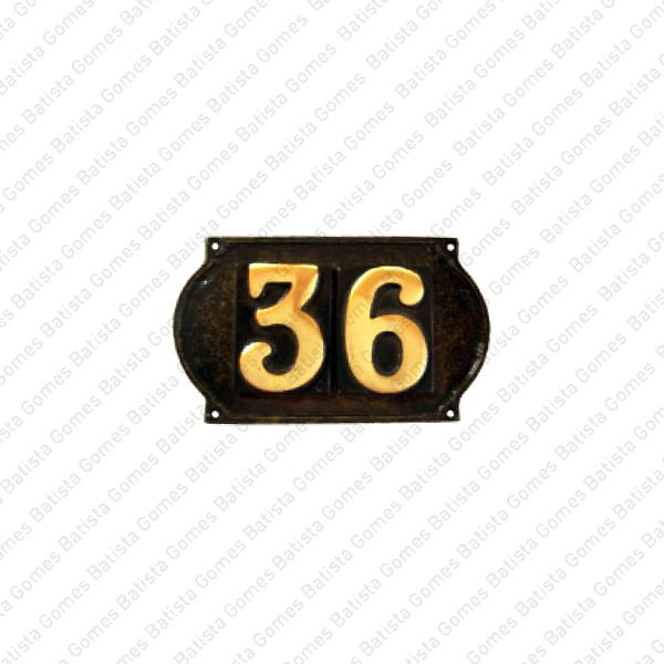 Batista Gomes - ALG.102 / ALG.103 - Algarismos com placa