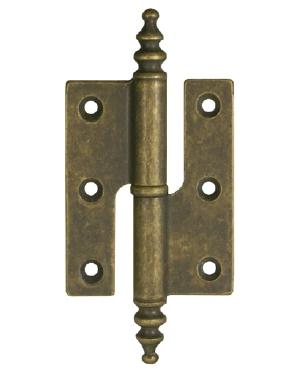 Batista Gomes - D.6110 - Dobradiça ½ balanço com pirâmide - LATÃO Bronze Anticato