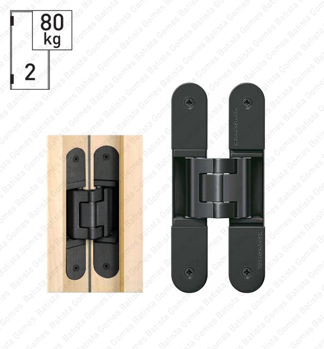 Batista Gomes - D.TE.340.3D Simonswerk - Dobradiça oculta / invisível TECTUS 3 D - Carga 80Kgs (2 Dobradiças)