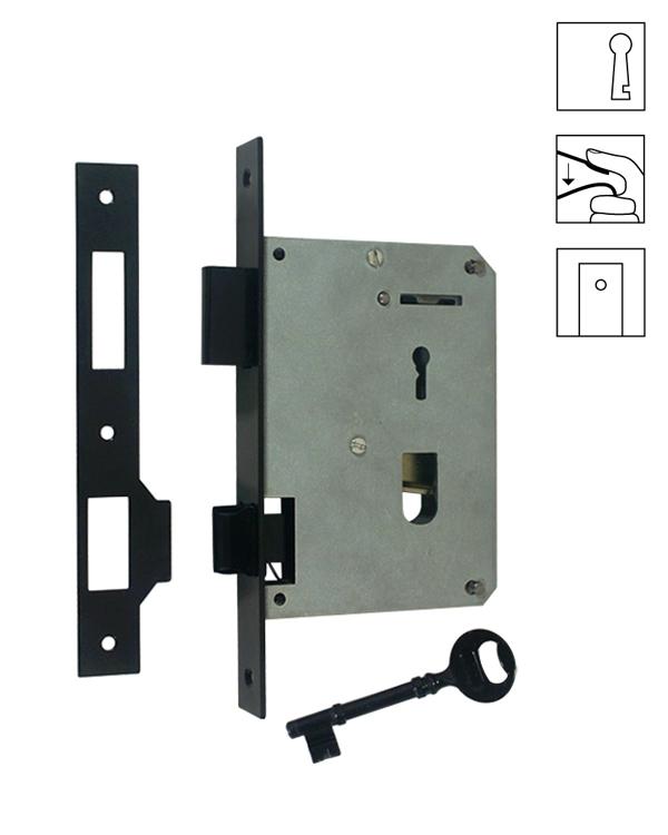 Batista Gomes - F.302.1.01 para trinquetas - Fechadura de embutir com chave para trinquetas - LATÃO