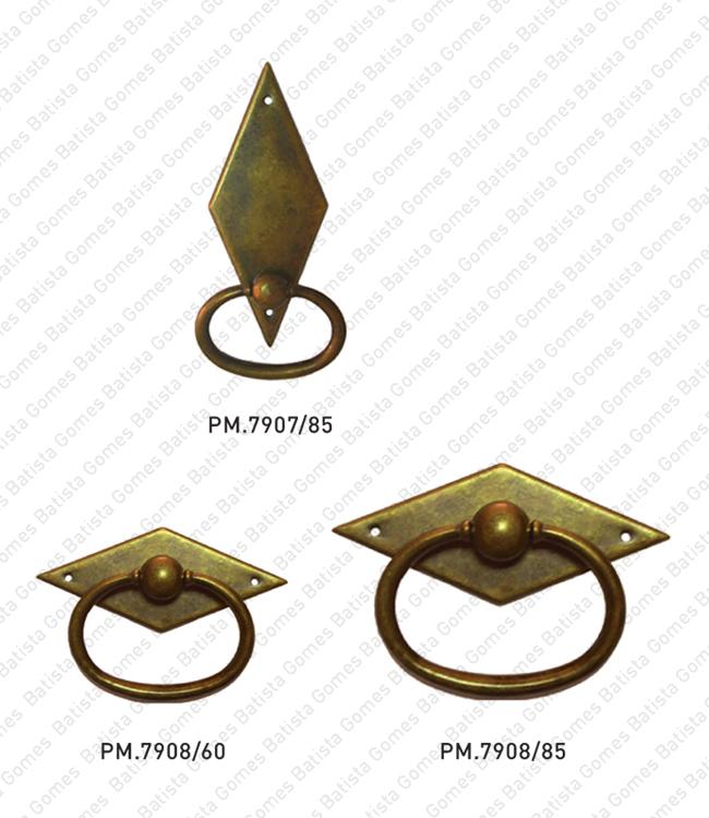 Batista Gomes - PM.7907 / PM.7908 - Puxadores para mobiliário - LATÃO