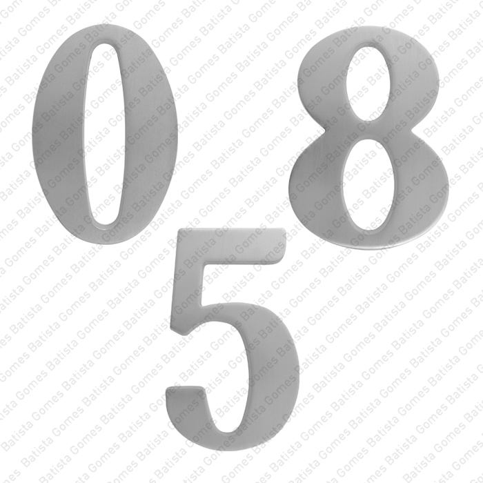 Batista Gomes - ALG.271 - Algarismos 124mm (0 a 9) - LATÃO