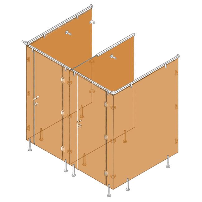 Batista Gomes - Ferragens Sistemas Modulares WC - Esquema geral de aplicação