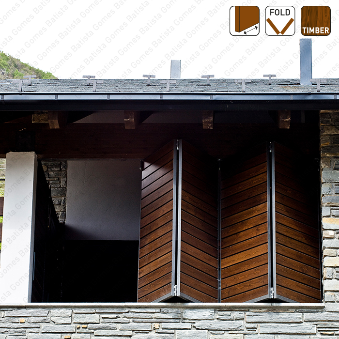 Batista Gomes - Fold Timber SF-A62D / SF-A63D / SF-A64D - Sistema para divisões e portas correr de passagem em madeira / Articuladas / Suspensos- Até 35Kg por par de folhas