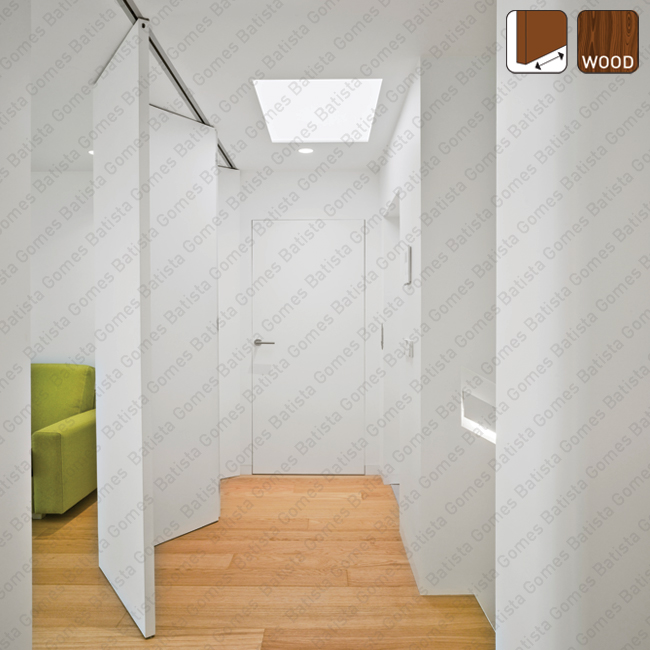Batista Gomes - Fold L Timber SF-A88D Articuladas - Sistema para divis�es e portas correr de passagem em madeira / Articuladas - At� 80Kg por par de folhas