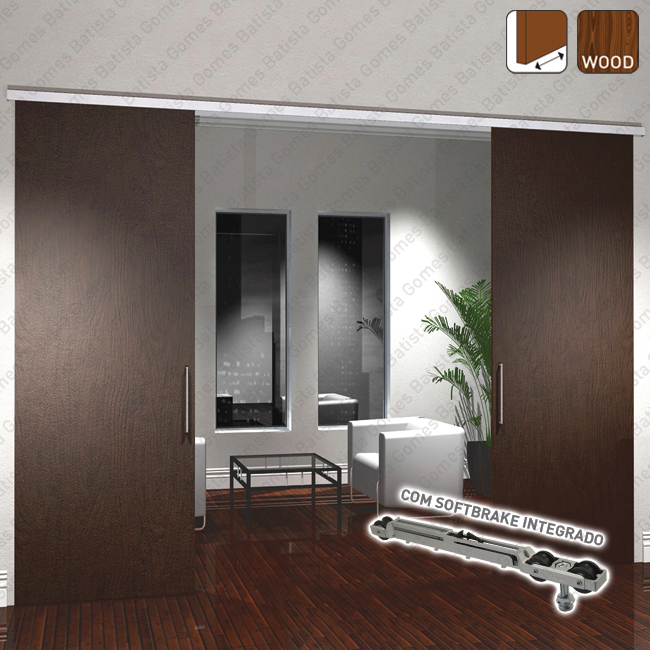 Batista Gomes - Roller Timber SF-ROLLER | SAHECO - Sistema para divisões e portas correr de passagem em madeira / Suspenso - Até 80Kg por folha