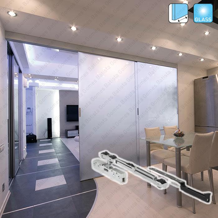 Batista Gomes - Essential Glass Easy SV-A40/SV-A60/P70/A90 SAHECO - Sistema para divisões e portas correr passagem em vidro - Até 40 / 60 / 70 e 90Kg por folha