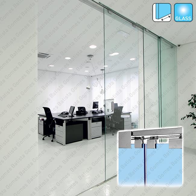 Batista Gomes - Multiplo Glass SV-SINCRO / SV-T PROGRESSIVA SINCRO - Sistema para portas de correr passagem em vidro telesc�picas e sincronizadas - At� 80 / 125Kg por folha