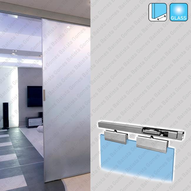 Batista Gomes - Classic Glass KIT SV-A121 - Excellence - Kit completo para portas de correr passagem em vidro - Até 120Kg / 1000mm