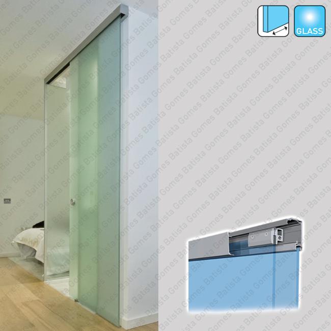 Batista Gomes - Compact Glass KIT SV-X80 - Kit completo para portas de correr passagem em vidro - At� 80Kg / 1250mm