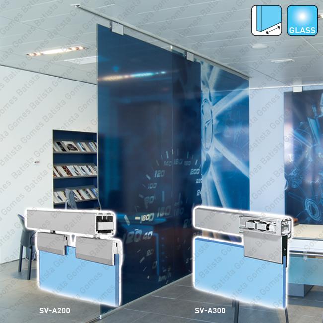 Batista Gomes - Classic Glass SV-A200 / SV-A300 - Sistema para divisões e portas correr passagem em vidro - Até 200 / 300Kg por folha