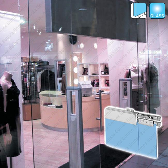 Batista Gomes - Classic Glass - Folhas fixas + Portas correr - Sistema para folhas fixas + portas correr passagem em vidro de 40Kg at� 200Kg por folha