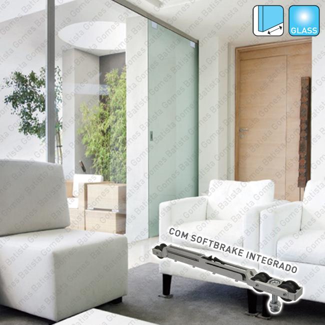 Batista Gomes - Roller Glass SV-ROLLER - Sistema para divis�es e portas correr passagem em vidro - At� 80Kg por folha / Com Softbrake integrado