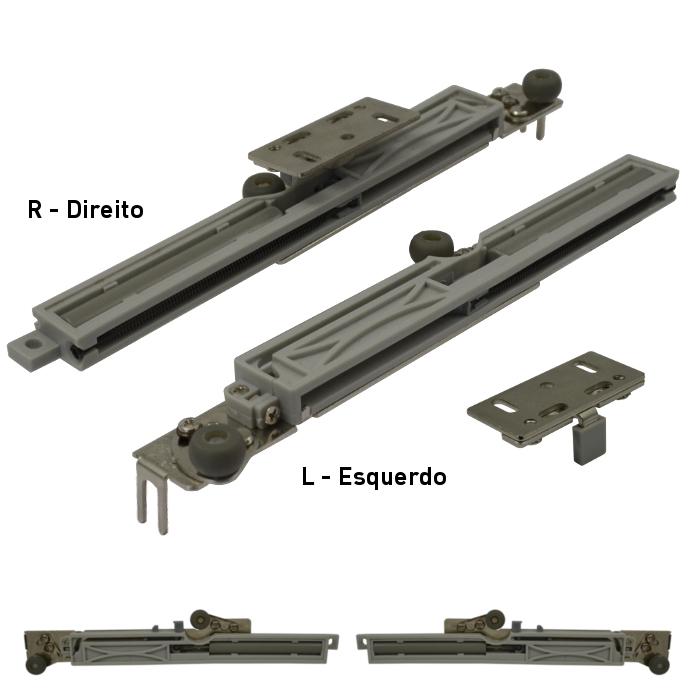 Batista Gomes - AM.1155 - Amortecedor com roletos superiores para portas de armários - Sistema Cupboard