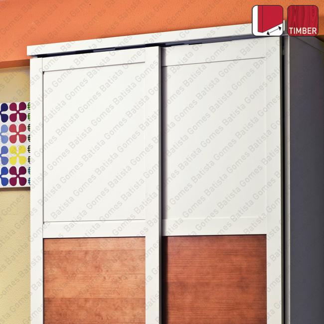 Batista Gomes - Suspensa Timber SF-30 / SF-53 - Sistemas para portas de correr para móveis e armários em madeira / Suspensas - Até 50Kg por folha / Com softbrake