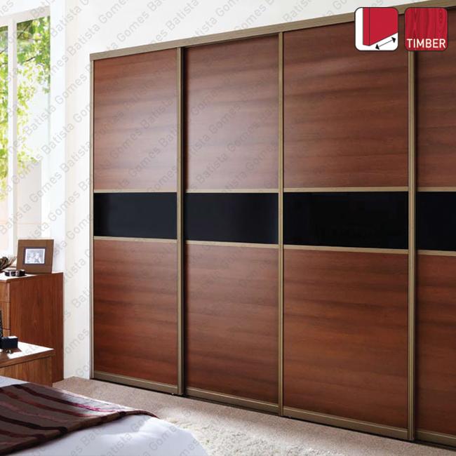 Batista Gomes - Cupboard Timber - Sistema para portas correr para móveis e armários / Apoiadas / Até 50Kgs por porta