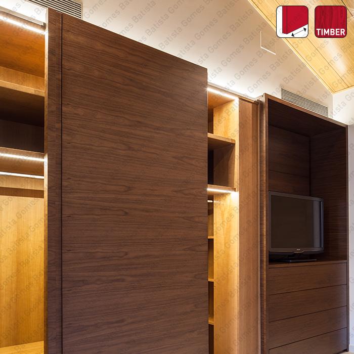 Batista Gomes - Front Timber SF-F40 | SAHECO - Sistemas para portas de correr para móveis e armários em madeira / Suspensas - Até 40Kg por folha / Com softbrake
