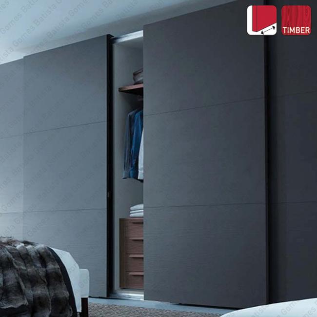 Batista Gomes - Versus Timber SF-S35 / SF-S60 - Sistema para portas de correr para móveis e armários em madeira / Suspensas - Até 60Kg por folha