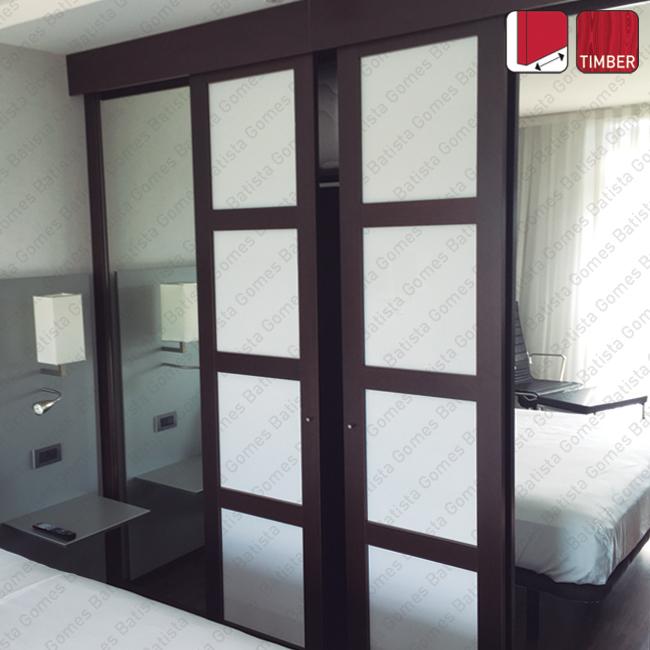 Batista Gomes - Nitro Timber SF-SA60 | SAHECO - Sistema para portas de correr para móveis e armários em madeira / Suspensas - Até 60Kg por folha