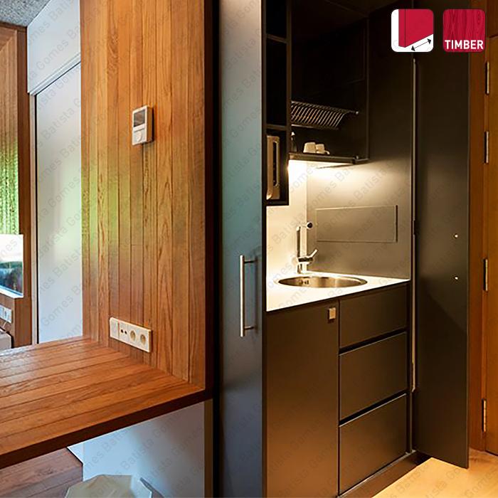 Batista Gomes - Side Timber - Sistemas para portas de correr para móveis e armários em madeira / Pivotantes - Até 60Kg por folha