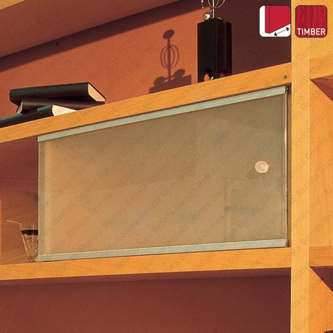 Batista Gomes - Aequor Timber SL-18 - Sistema para portas de correr para móveis e armários em madeira / Apoiadas - Até 18Kg por folha