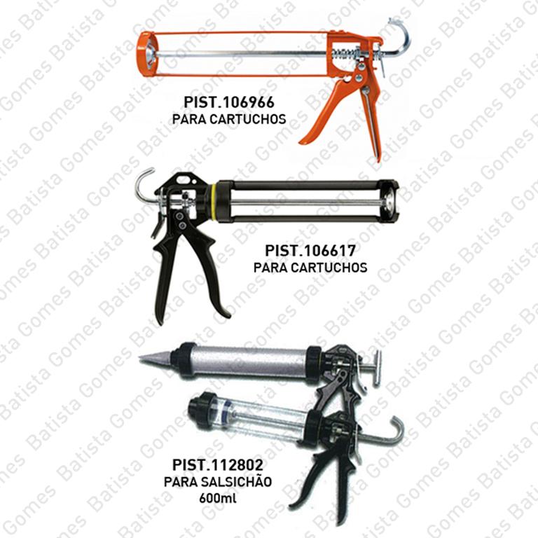 Pistolas para silicone - cartuchos e bolsa
